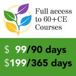 Full access to 60+ CE courses