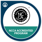 NCCA accreditation badge